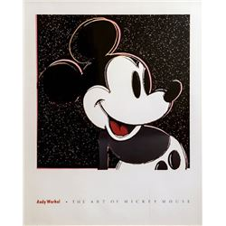 Andy Warhol, The Art of Mickey Mouse, Poster