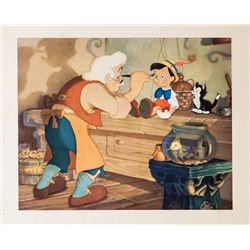 Disney Studios, Geppetto's Workshop - Pinocchio, Offset Lithograph