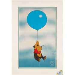 Disney Studios, Pooh Floating with Blue Balloon, Sericel