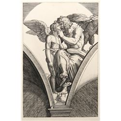 Marcantonio Raimondi, Jupiter embrassant l'Amour, Heliogravure