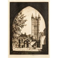 Stanley Anderson, Church, Etching