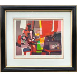 Marcel Mouly, L'Ecrivain (The Writer), Lithograph