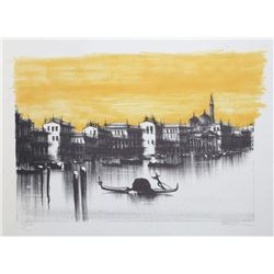 Barnet, Venice (Colored), Lithograph with hand-coloring