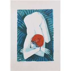 Charles Levier, Nude, Lithograph