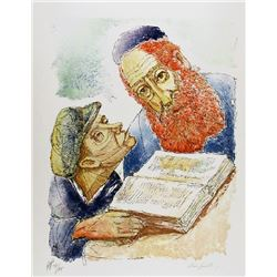 Chaim Goldberg, Teacher and Student, Lithograph