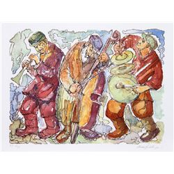Chaim Goldberg, Trio, Lithograph