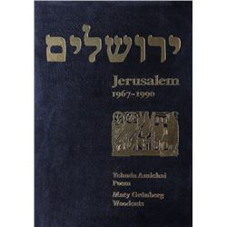 Maty Grunberg, Jerusalem, 1967-1990, Portfolio of 64 Woodcuts (8 signed) with Poem by Yehuda Amichai