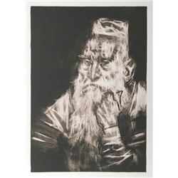 Jack Levine, Rabbi in White, Lithograph