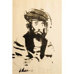 Jack Levine, Hebrew King, Lithograph