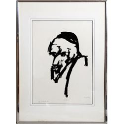 E. Schreiber, The Rabbi, Silkscreen