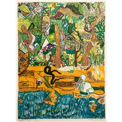 Romare Bearden, Dreams of Exile (Green Snake), Lithograph