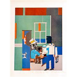 Romare Bearden, Carolina Blue (Interior), Offset Lithograph