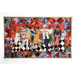 Faith Ringgold, Groovin' High, Silkscreen