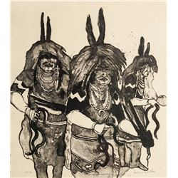 Kevin Red Star, Snake Dance Ceremony, Lithograph