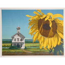 Harry Devlin, Sunflower, Lithograph