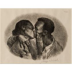 Joseph Hirsch, Kiss (Cole 17), Lithograph