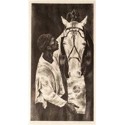Joseph Hirsch, Man and Beast, Lithograph