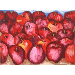 Richard C. Karwoski, Fall Apples, Lithograph