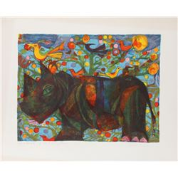 Judith Bledsoe, Rhino, Lithograph