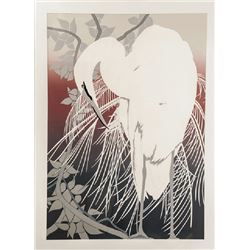 Robert Bowley, Crane, Lithograph