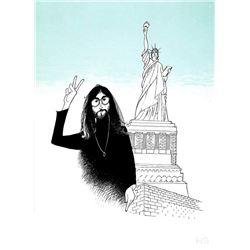 Al Hirschfeld, John Lennon - Peace and Liberty, Lithograph