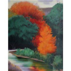 Robert Buffolini, Fall Landscape, Lithograph