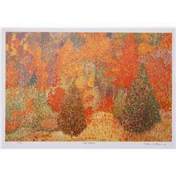 Tom Mathews, Fall Colors, Lithograph