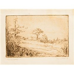 Marie Rand, To The Woods, Etching