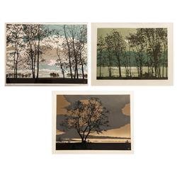 Wilbur Streech, Lot of 3 Lake Landscape Prints