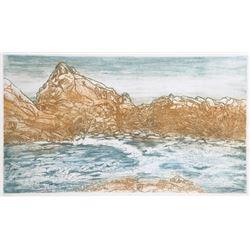 Ruth Leaf, Tidewater, Aquatint Etching