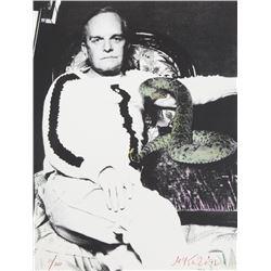 Mike McKenzie, Truman Capote and Snake, Silkscreen