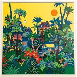 Edward Sokol, Jungle Sunrise, Serigraph