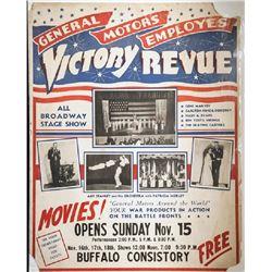 General Motors Employes Victor Revue, Poster