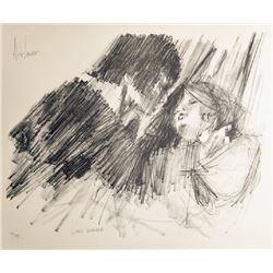 Aldo Luongo, Lovers Embrace, Lithograph