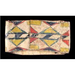 Umatilla Polychrome Parfleche Envelope c. 1800's