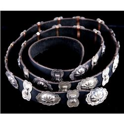 Navajo Second Phase Sterling Butterfly Concho Belt