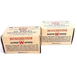 22 Short Winchester Ammo Boxes Circa 1938-1939 (2)