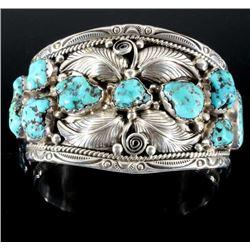 T. Singer Sterling & Morenci Turquoise Bracelet