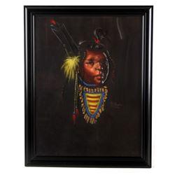 Nancy McLaughlin Powell Oil on Velvet Painting