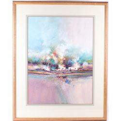 Original Watercolor-Gouache Painting John Mendoza