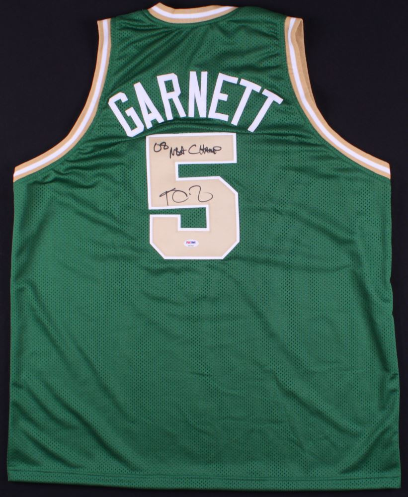 check out dc88d f3f06 Kevin Garnett Signed Celtics Jersey Inscribed