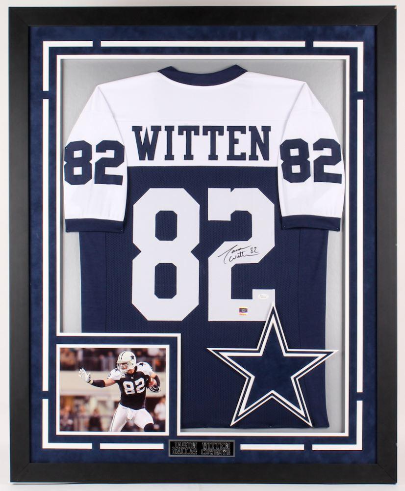 wholesale dealer 469a0 7c7e6 Jason Witten Signed Cowboys 35.5x43.5 Custom Framed ...