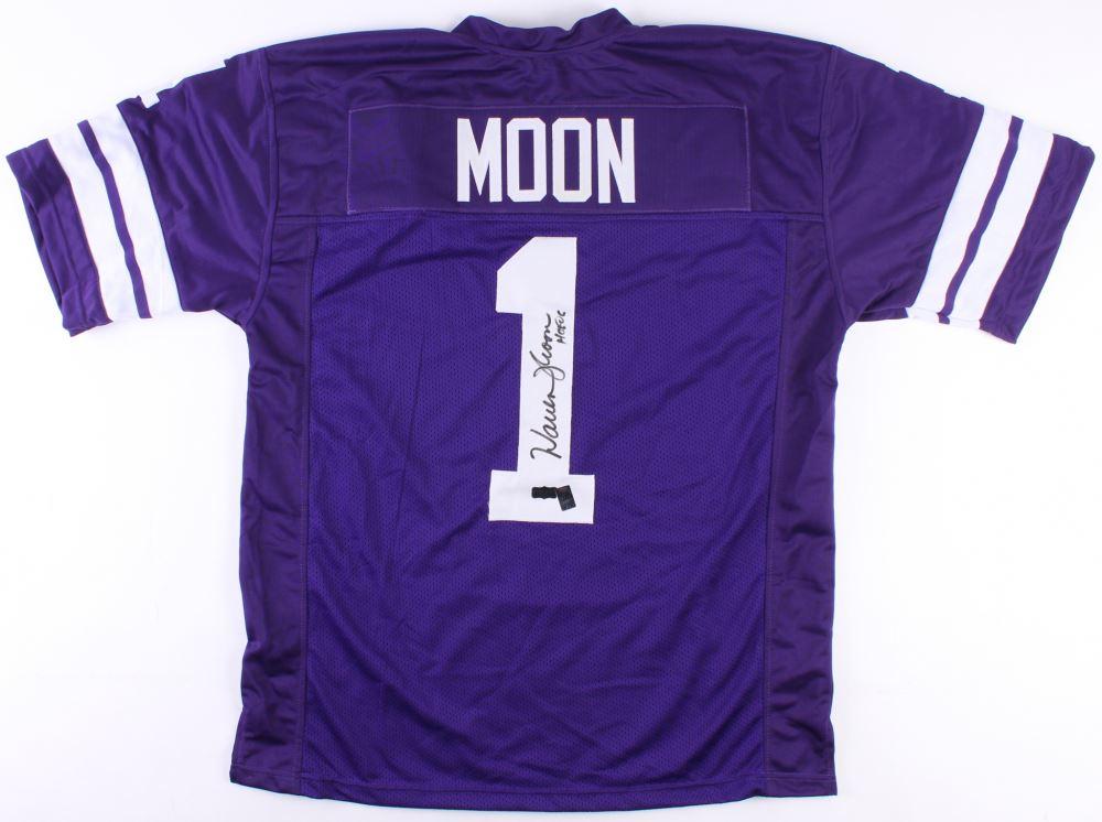 lowest price 84b9a 1b8e0 Warren Moon Signed Washington Huskies Jersey Inscribed ...