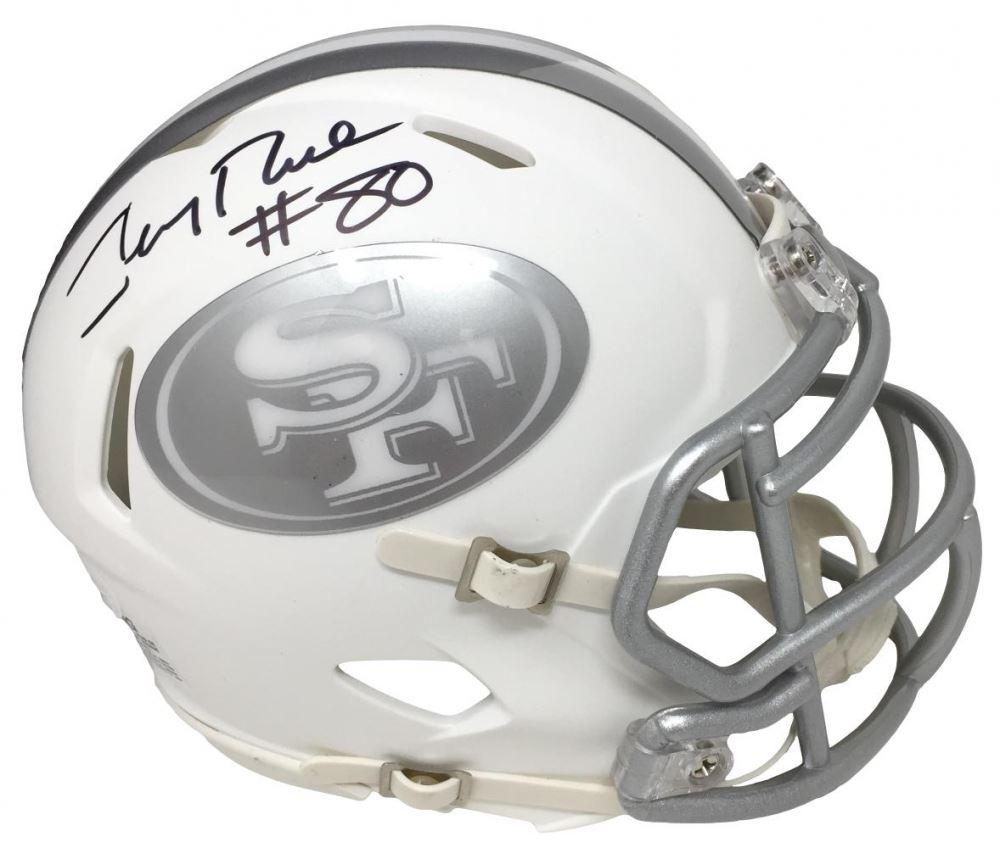 c32911e60 Image 1   Jerry Rice Signed 49ers White Ice Speed Mini-Helmet (JSA COA
