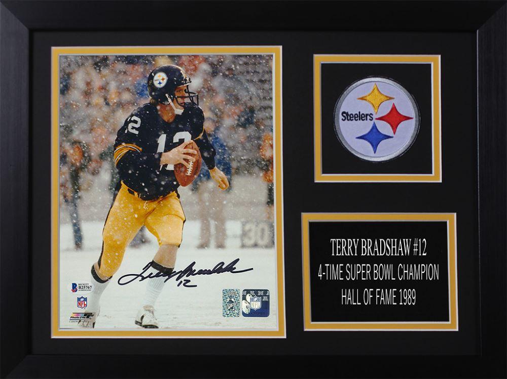 089dd9a4f Image 1   Terry Bradshaw Signed Steelers 14x18.5 Custom Framed Photo  Display (Beckett