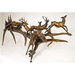 Alberta – Bronze Elk Herd Sculpture