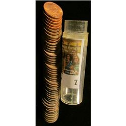 1920-65 Partial Set of Canada Cents in a plastic tube. Most of the coins including the 1925 grade EF