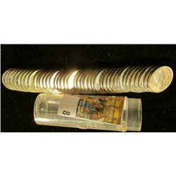 "1965 Gem BU Roll of Canada ""Beaver"" Nickels in a plastic tube."