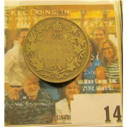 1931 Canada Silver Quarter, VG.