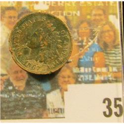 1867 Indian Head Cent, VG, edge nicks.